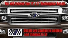 Thin Blue Line Flag Emblem OVERLAY Decals for Chevy Bowtie Emblem -2 U CUT