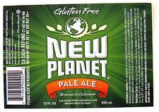 New Planet Beer PALE ALE beer label CO 12oz
