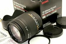 Near Mint Sigma Zoom 18-250mm f/3.5-6.3 DC Macro OS HSM Lens w/ Hood Nikon Japan