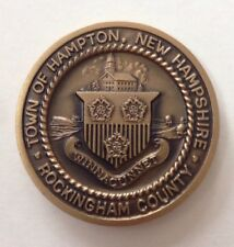 Rare Vintage 1976 TOWN OF HAMPTON New Hampshire Bronze Bicentennial MEDAL COIN