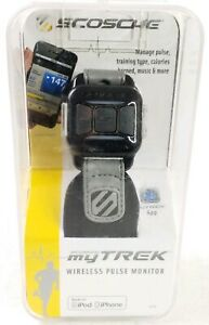 Scosche Mytrek Wireless Pulse Monitor Watch music control calorie counter Iphone