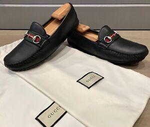 Gucci Men's Horsebit Loafers / Moccasins size 8  = US 8.5 *Authentic*