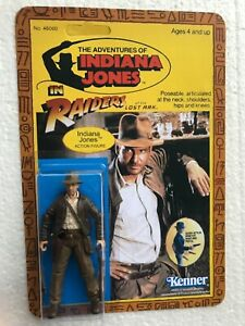 INDIANA JONES ACTION FIGURE NEW ON VINTAGE STYLE CARDBACK ADVENTURE HAS A NAME