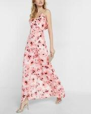 vacation! New SOLDOUT EXPRESS ruffle wrap floral dress 0 xs small pink