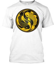 Yellow And Black Yin Yang Koi Fish Hanes Tagless Tee T-Shirt