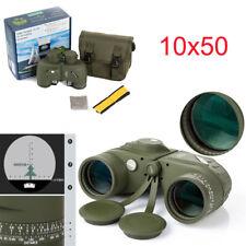 Navy 10x50 HD Night Vision Binoculars Telescope&Compass Measurement with bag