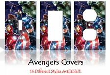 Avengers Comics Thor Iron Man Hulk Light Switch Covers Disney Home Decor Outlet