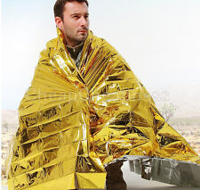 Gold Emergency Solar Survival Blanket Safety Insulating Mylar Thermal Heat EF