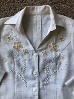 vintage beaded blouse size M