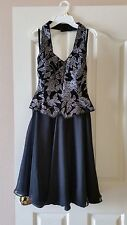Custom Made in Italy Black/Silver Party Stage Dress Size 4