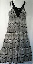 PAPAYA MATALAN SIZE 16 BLACK/WHITE MAXI DRESS GOOD CONDITION FREE P&P