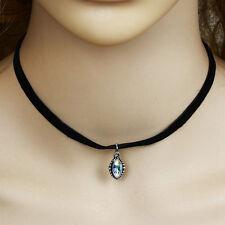 Women's Vintage Velvet Bib Choker Necklace Crystal Pendant Cute Fashion 2016