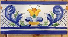 50 Pz.Listelli 10x20 Decorati a Mano Ceramica Vietrese Consegna 10 Gg.
