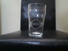 Mini Car Badge Personalised Etched Beer Pint Glass