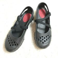Skechers Black Waterproof Mary Janes Cali Gear Cross Strap Womens Sz 8.5. Jy38