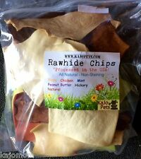 Rawhide 5-FLAVOR CHIPS Dog Chews 1lb (16oz) Bulk Sealed Package Natural