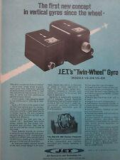 4/1972 PUB JET ELECTRONICS TECHNOLOGY TWIN WHEEL VERTICAL GYRO GYROSCOPE AD