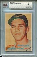 1957 Topps Baseball #328 Brooks Robinson Rookie Card RC Graded BVG Nr Mint 7