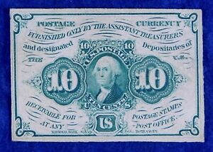 1862 #1242 Fractional Currency 10c Banknote
