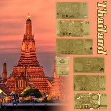 WR GOLD Banknote Thailand 10-1000 Baht Bhumibhol Commemorative Note Set /w COA