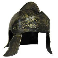 Gold Bronze Roman Medieval Iron Knight Helmet Spartan Gladiator Costume Hat
