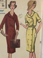 1950s Vogue Vintage sewing pattern dress 9595 Bust 38