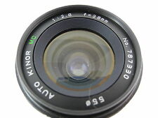 CANON MOUNT 28/2.8 MC KINOR LENS PERFECT GLASS SMOOTH FOCUS & APERTURE