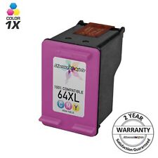 Reman Color Ink Cartridge for HP 64XL N9J91AN Printer Envy 6255 7155 7855 64 XL