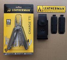 Leatherman CHARGE TTi Titanium+Leather Sheath+42pcs Bit Kit