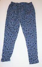 H&T Brand Girls Blue Animal Print Side Pocket Pull On Pants Size 3 Bnwt #Gir1