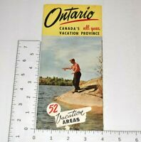Ontario Canada 52 Vacation Areas Province Vintage Travel Brochure