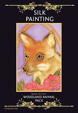 Silkcraft Silk Painting Gutta Outlines-Card Making- Woodland  Animal Pack of 5