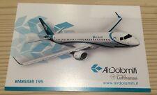 Air Dolomiti Lufthansa Italia Italy Embraer 195 EJet E95 Postcard Postkarte TOP