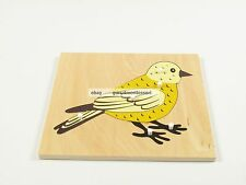 New Montessori Zoology Material - New Plywood Bird Puzzle