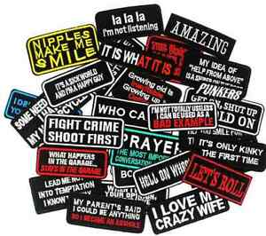 Biker Patches Patch Funny Quotes Rude Motorcycle Iron/Sew On Loud Pipes