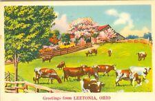 Leetonia OH  A 1936 Pastoral Greetings from Leetonia