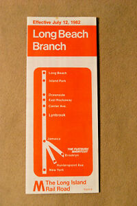 Long Island Railroad - Long Beach Branch - July 12, 1982