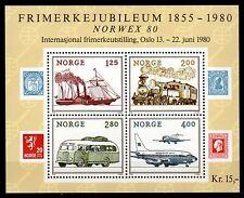 Norway - 1980 Stamp exposition Norwex - Mi. Bl. 3 MNH
