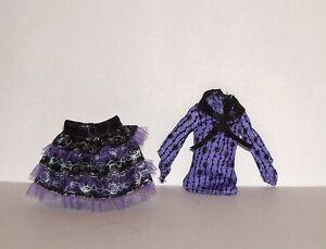 NEW MATTEL MONSTER HIGH TWYLA (DAUGHTER OF BOOGEY MAN) CLOTHES 2 PIECE DRESS