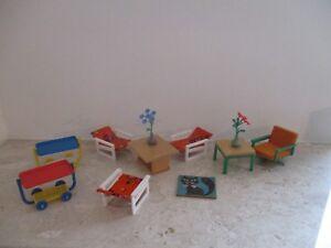 alte origin. 70er Jahre DDR Plastik Möbel für die Puppenstube
