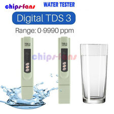 Digital TDS 3 Water Quality Tester Purity Meter TEMP PPM Test Filter Pen Stick C