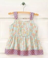 NWT Matilda Jane Sail Away Top Tank Blouse Blue Pink Lilac Floral Buttons Size 8