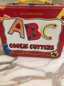 Cookie Cutter set Alphabet ABC Educational Fun in Lunchbox Williams Sonoma