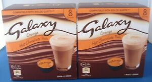 2 x Boxes Galaxy Orange Hot Chocolate Pods Dolce Gusto Compatible16 x 17g NEW