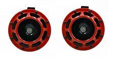 12V Hupe Horn 125dB Fanfare Motorrad Auto Rot Universal Quad ATV UTV