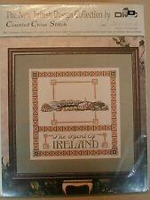 BRITISH DESIGN COLLECTION SPIRIT OF IRELAND cross stitch kit NEW K607