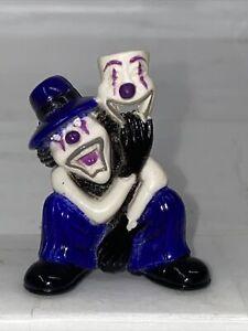 "Homies Psycho Clown Mini Figure Skitzo  Series 1 Blue White Mask PVC 1.5"""