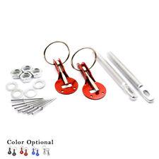 Silver Qiilu Hood Pin,Universal Aluminum Alloy Hood Pin Appearance Kit Racing Hood Lock