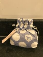 Victoria's Secret White/ lilac PINK Perfume Pouch Fabric Storage Gift bag UK New