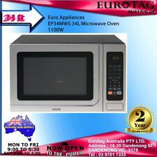 Euro  EP34MWS 34L Microwave Oven STAINLESS STEEL  1100W RRP$285.00